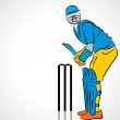 Stock Vector: Cricket player