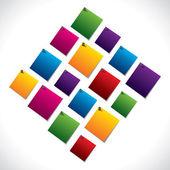 Nota di carta colorata — Vettoriale Stock