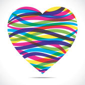 Abstract heart shape — Stock Vector