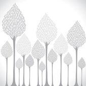 Tle drzewa — Wektor stockowy