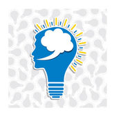 Human head bulb — Stock Vector