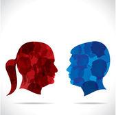 Kadın ve erkek — Stok Vektör