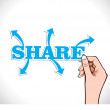 Share any thing in world — Stock Vector