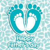 Happy father's day greeting — Stock Vector