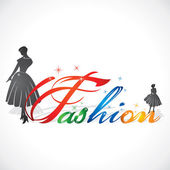 Creative writing of fashion word — 图库矢量图片