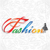 Escritura creativa de la palabra de moda — Vector de stock
