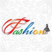 Creative writing of fashion word — Stock Vector