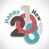 Yeni yıl tebrik — Stok Vektör