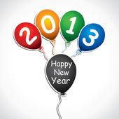 Nyår gratulationskort, 2013 — Stockvektor