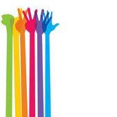 Mão colorido gesign — Vetorial Stock