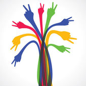 Colorful hand design — Stock Vector