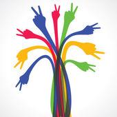 Färgglada hand design — Stockvektor
