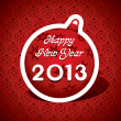 New Year Greeting Card,2013 — Stock Vector
