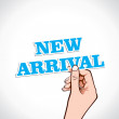 Hand show the new arrival sticker — Stock Vector #26492863