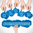 Hand showing cloud computing  — Stockvectorbeeld
