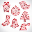 Merry christmas symbol stock vector — Stock Vector