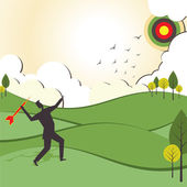 İşadamları odak stok vector vurmak — Stok Vektör
