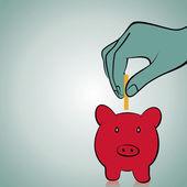 Piggy save money concept stock vector — Vettoriale Stock