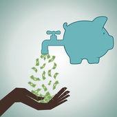 Piggy save money concept stock vector — Stock Vector