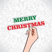 God jul i hand lager vektor — Stockvektor