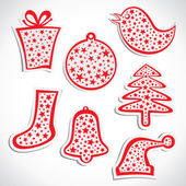 Merry christmas symbol stock vector — Stock Vector