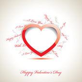 Vector valentijnsdag kaart — Stockvector