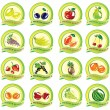 Stock Vector: Set of vector fruit icons