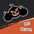 Royalty-Free Stock Imagem Vetorial: Halloween vector illustration for card