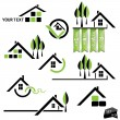 Set of houses icons for real estate business on white background — Stock Vector #24339069