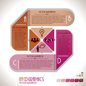 Infographics template with letters. Vector illustration — Cтоковый вектор