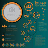 Infographics template with letters and numbers. Vector illustrat — Vecteur