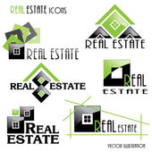 Modern Real estate icons for business design. Vector illustratio — Stock Vector