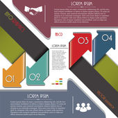 Infographics template with letters and numbers. Vector illustrat — Stockvector