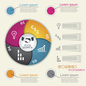 Modern infographic template, design for your business presentati — Cтоковый вектор