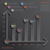 Indicadores de apresentação de dados de design moderno modelo infográficos — Vetorial Stock