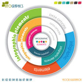Modern vector infographic template with circle, design for your — Vetorial Stock