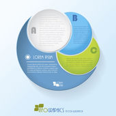 Modern vector infographics template (can be used for your web de — Stock Vector