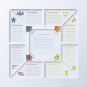 Plantilla de diseño vectorial infografía moderna — Vector de stock