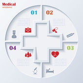 Abstract concept of medicine with  medical and healthcare icons  — Stock Vector