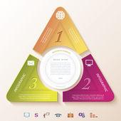 インフォ グラフィック デザイン円と 3 つのセグメントを抽象化します。vect — ストックベクタ