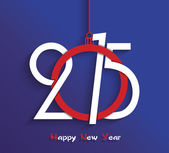 Happy new year 2015 creative greeting card design — Stockvektor