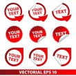 Vector de stock : Vector labels easily editable