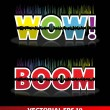 Wow, boom exploiting — Stock Vector