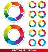 Gráfico circular — Vetor de Stock