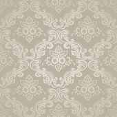Seamless pattern background.Damask wallpaper. Vector illustration — Stock Vector