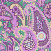 Seamless pattern with paisley — Stock Vector