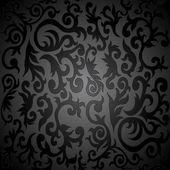 ビンテージ花シームレスなダマスク — ストックベクタ
