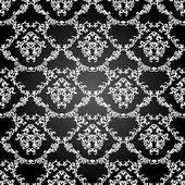 Damask vintage floral seamless pattern — Stock Vector