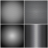 Set metal grids — Stock Vector