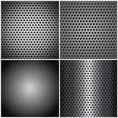 Set metal grids — Stock Vector